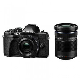 OM-D E-M10 Mark III with 14-42mm R + 40-150mm R Lens Black