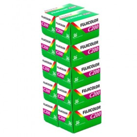 Fujicolor C200 36 Exposure Colour Film - 10 Pack
